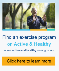 nocaption:The Active and Healthy website identifies registered exercise programs in your local area that have specific exercises to improve balance and strength.